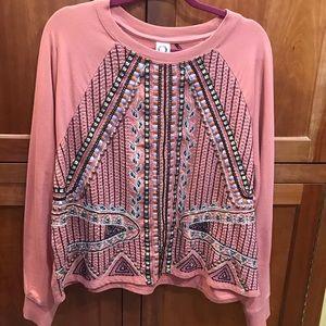 VGUC Anthropologie embellished sweatshirt